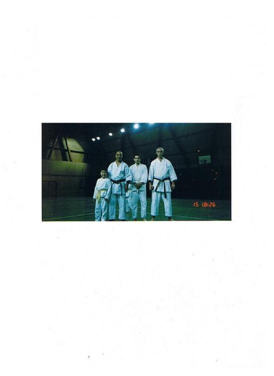 Sensei Nakahashi, Coach Michel et Sensei Jean-luc