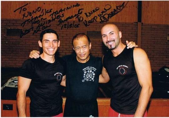 coach Michel Do Lago, guru Dan Inosanto, sifu Robert Parmakovsky